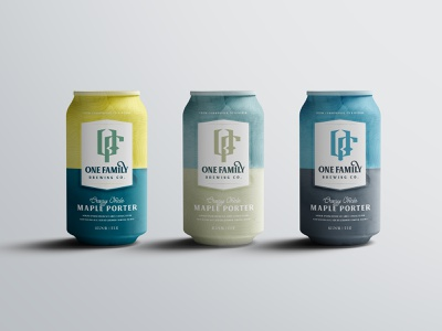 One Family Brewing Cans porter family drink beverage label mockup label packaging beer bottle logo design brand identity beer branding packaging label design cans brewery beer