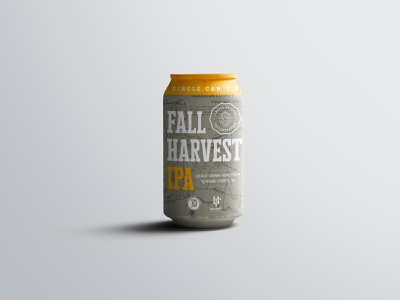 Fall Harvest IPA Label graphic design typography brewery branding can design beer ipa map texture badge print design branding beer can packaging label design brewery