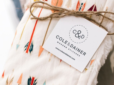 Cole & Dainer Product Tag product photography twine colorado stitches blanket brand design logo design product design print design tag cpg product typography visual identity graphic design brand identity branding logo