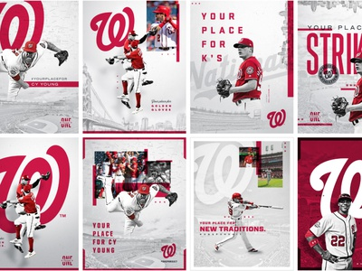 Washington Nationals Seasonal Creative Direction athletes texture typography brand design poster outdoor banners ads visual design print design graphic design art direction nats nationals washington athletics sports baseball creative direction branding