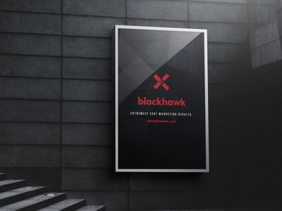 Blackhawk DM Poster marketing digital agency print design brand elements brand design mockup poster visual design visual identity graphic design brand identity branding logo