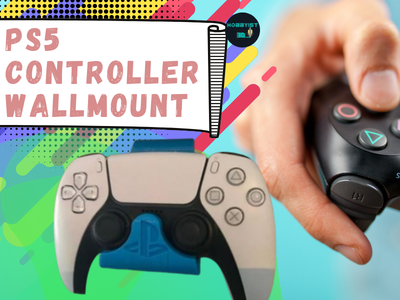 PS5 Controller wallmount logo typography icon illustration design branding app