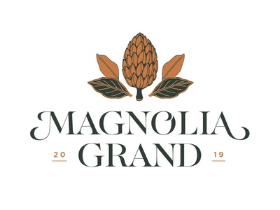 Magnolia Grand Unused Direction Pt. I southern copper serif upscale monogram magnolia typography type branding logo illustration