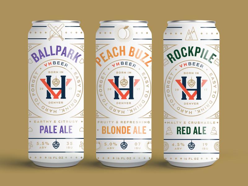 VH Beer Can Design Pt. I craft beer icon design icon monoline illustration packaging design can design can beer can beer