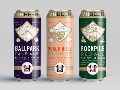 VH Beer Can Design Pt. II packaging design packaging beer can design craft beer beer can beer can illustration