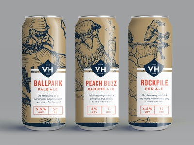 VH Beer Can Designs Pt. III packagingdesign packaging beer can design can design can craft beer beer can beer illustration