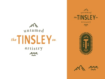 The Tinsley Co Pt. I patch illustration handdrawn outdoorsy outdoors wedding photographer photographer photography badge logo design logo