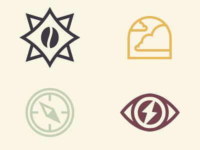 Apotheos Cold Brew Icons iconography cold brew coffee icon design monoline icon illustration