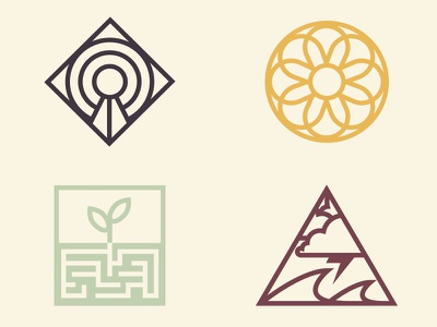 Apotheos Bagged Coffee Icons abstract iconography icon design icon illustration