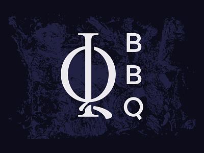 IQ BBQ Unused Direction 1 emblem type dark black blue bbq q i monogram typography logo