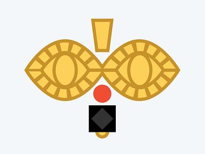 Azabache gold yellow jewelry santero santeria cuban cuba icon logo illustration