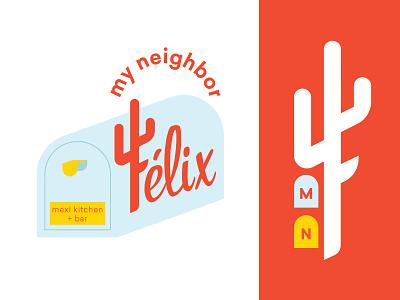 My Neighbor Felix - Unused Direction badge pattern monogram mexican restaurant restaurant logo restaurant icon logo