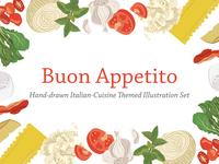 Buon Appetito Illustration Set