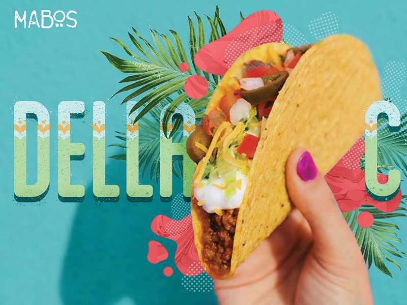 MaBos Concept Art restaurant palm abstract flavor taco photo photo collage collage tacos concept art