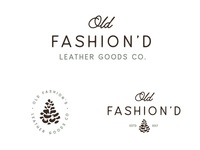 Old Fashion'd Leather Goods Logo System