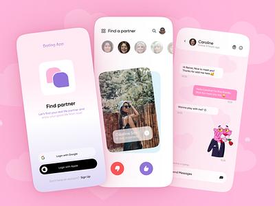 Dating App ui vector illustration typography pos logo design poster graphic design branding