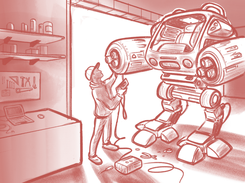 Mecha mechanic robot mecha
