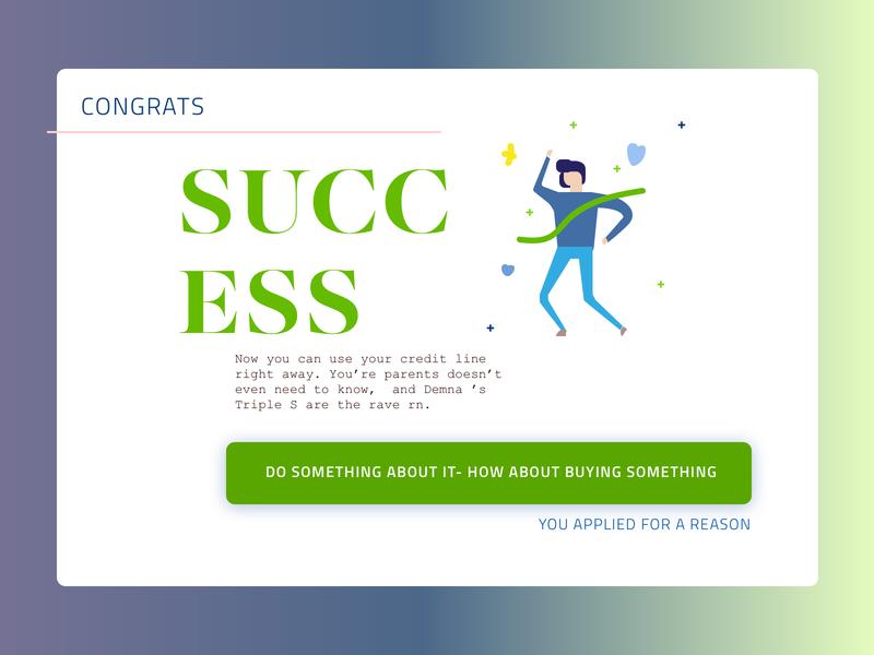 Daily UI 11 Success design illustration gradient dailyui congrats success daily dailyui011