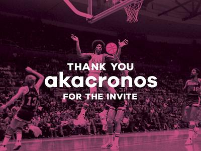 Hello Dribbble 💕  julius erving mixed media first shot thank you akacronos dribbble basketball invite