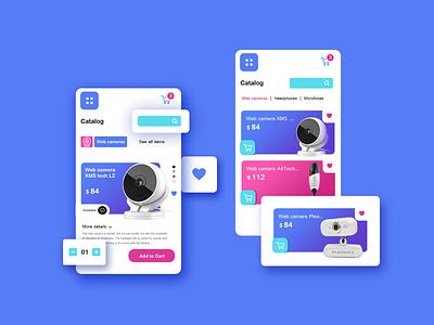 Digital store app ux ui shop digital mobile application 3d