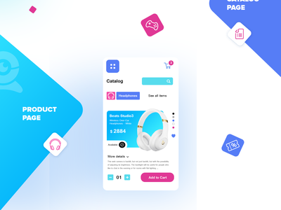 Shot:  Digital webshop app presentation logo design blue branding digital mobile application ui ux product design