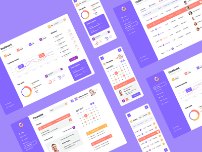E-commerce Dashboard for tablet and mobile dashboard user interface user experience management system e-commerce dashboard product design mobile ui design tablet design
