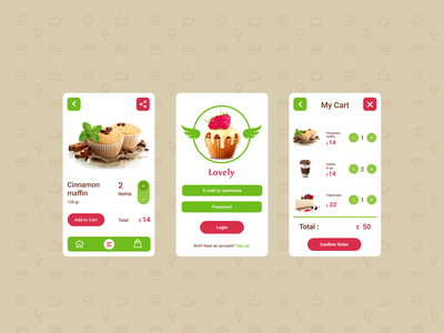 Food Delivery Mobile application food delivery service logo uxui branding coffee style product design cafe apps mobile design food delivery app mobile application