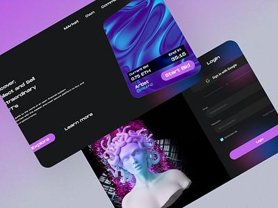 NFT-Website ux ui design branding