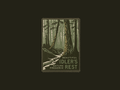 Idler's Rest Patch vintage illustration travel patch design patch