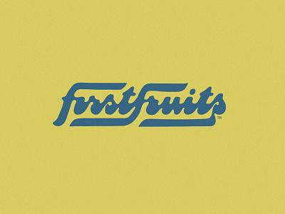 FirstFruits brand custom lettering script lettering script font logotype wordmark script mark identity branding logo