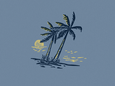 Cancun tee shirt beach matchbox illustration