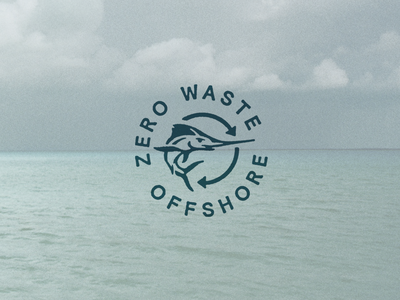 Zero Waste Offshore zero waste marlin outdoor icon badge fishing mark brand identity branding logo