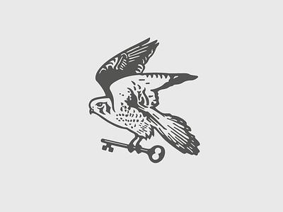 Kestrel Bird Mark logo illustration bird kestrel