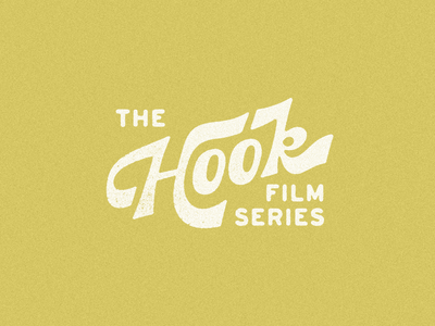 The Hook — Film Series texture music fishing outdoor title card branding film series typography logo