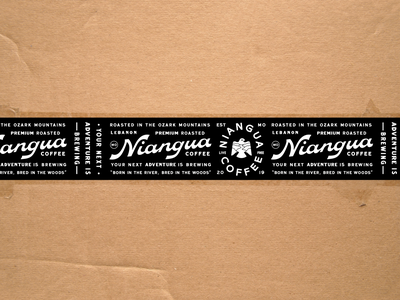 Niangua Packing Tape branding packaging tape packaging design identity logo