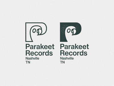 Parakeet — W in P mark wip brand identity bird logo branding nashville bird label record label record company records parakeet