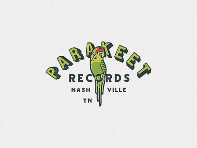 Parakeet nashville records record label wip mark brand identity branding logo