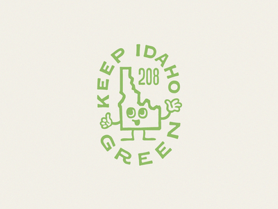 Keep Idaho Green tee shirt green illustration sticker