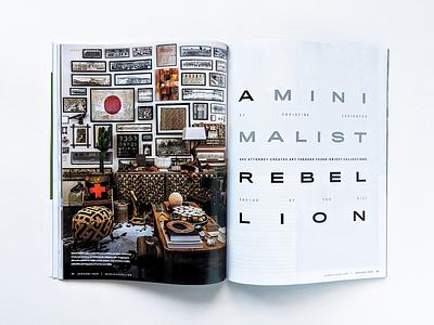 A Minimalist Rebellion typography design publication layoutdesign layout magazine oklahoma