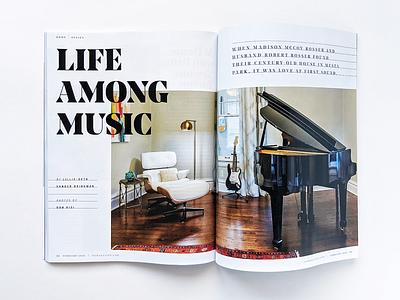 Life Among Music type layoutdesign layout magazine design publication magazine oklahoma