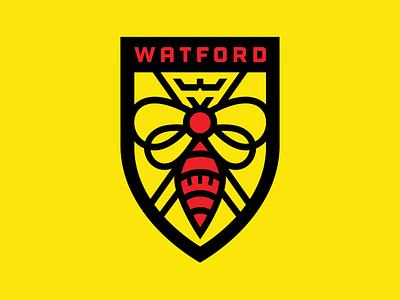 Watford FC Redesign premier league watforddesign hornet badge logo watford epl redesign badgedesign football soccer badge
