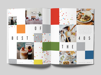 Best of the 405 okc oklahoma city oklahoma 405 layoutdesign spread layout magazine magazine design