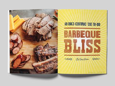 Barbecue Bliss okc oklahoma city woodtype oklahoma spread magazine logo magazine layout