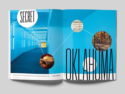 Hidden Oklahoma magazine design spread oklahoma city okc oklahoma feature magazine layout