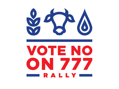 Vote No on 777 oklahoma thick lines brand brand identity icon branding logo