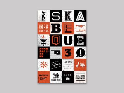 Skabeque 2018 graphic design texture grunge halftone music oklahoma city ska typography poster