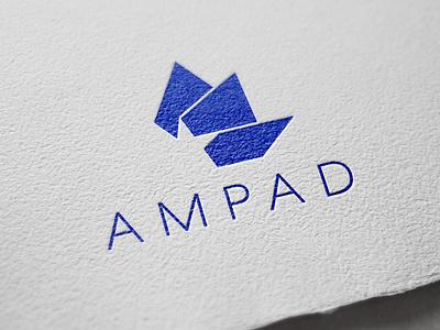 Ampad Logo Redesign angles blue brand design mockup logo design branding logodesign logo logo mark