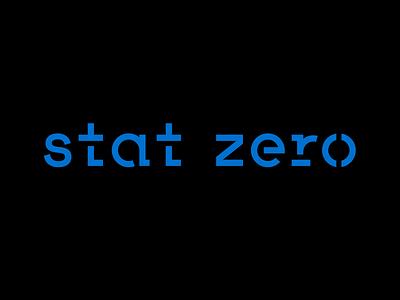 Stat Zero type logotype minimal logo design branding branding design logodesign stencil branding and identity custom type branding logo