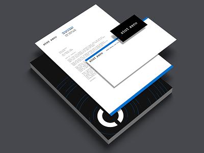 Stat Zero Stationery design stationery mockup stationery design branding logo business card stationery