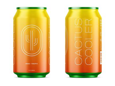 Cactus Cooler Redesign minimalist minimal gradient design gradient logo can design packaging cooler cactus